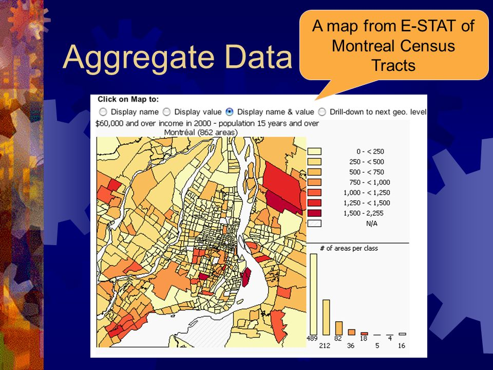 A map from E-STAT of Montreal Census Tracts