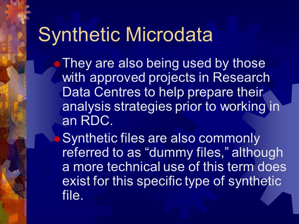 Synthetic Microdata