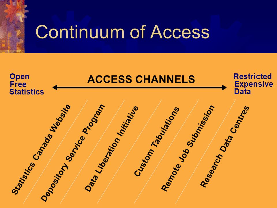 Continuum of Access ACCESS CHANNELS Depository Service Program