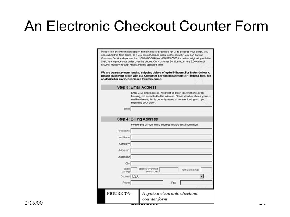 An Electronic Checkout Counter Form