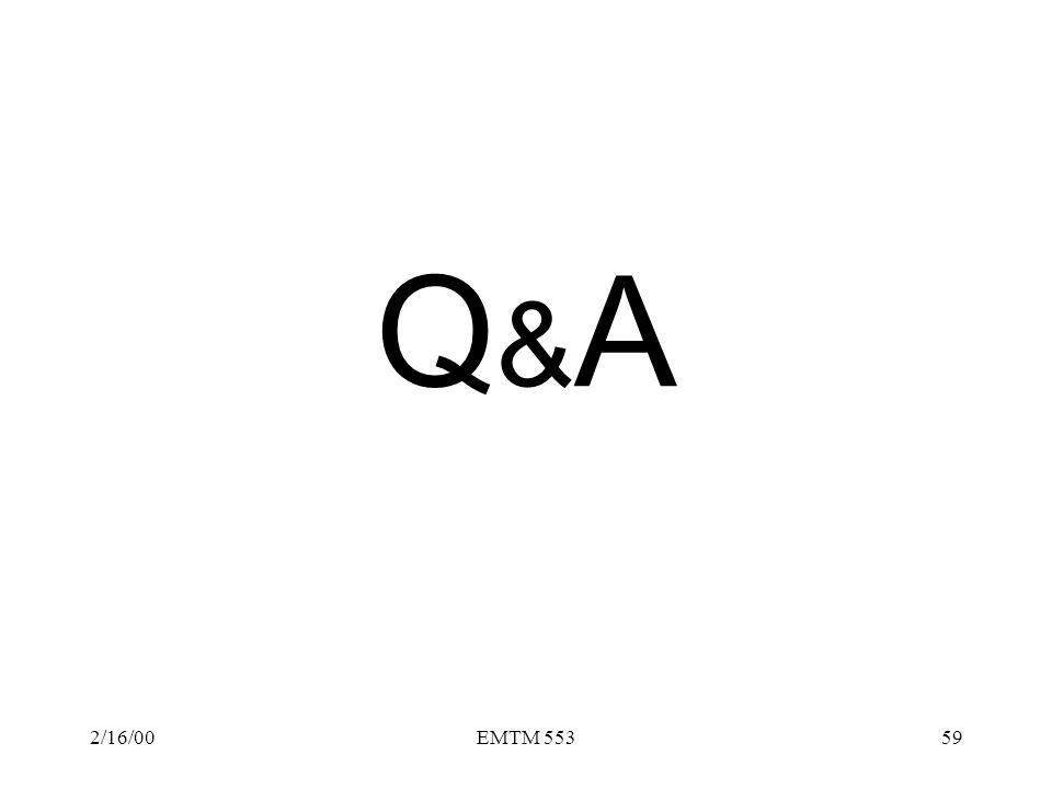 Q&A 2/16/00 EMTM 553