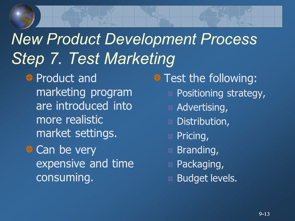 New Product Development Process Step 7. Test Marketing