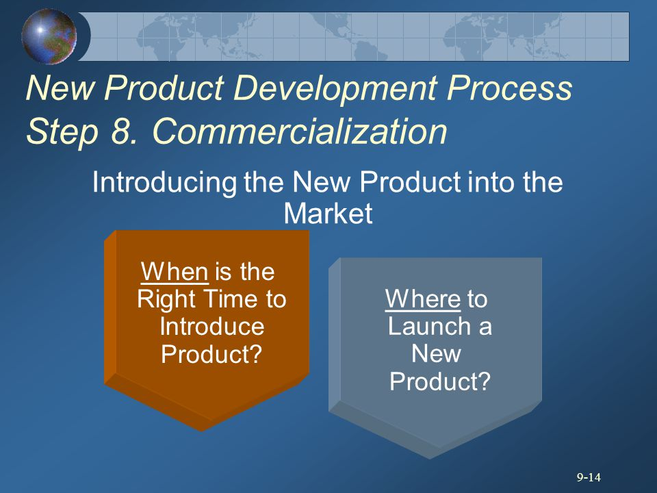 New Product Development Process Step 8. Commercialization