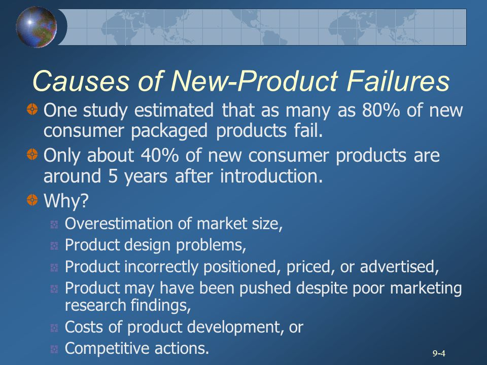 Causes of New-Product Failures
