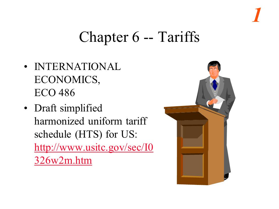 international economics trade and tariffs Yuan-ching chang is an assistant professor of economics department, chinese   key words: trade, foreign aid, tariff, international interactions, conflict.