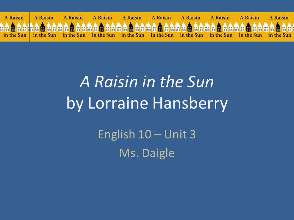 A RAISIN in the SUN- Discuss Racial Discrimination - PDF ...