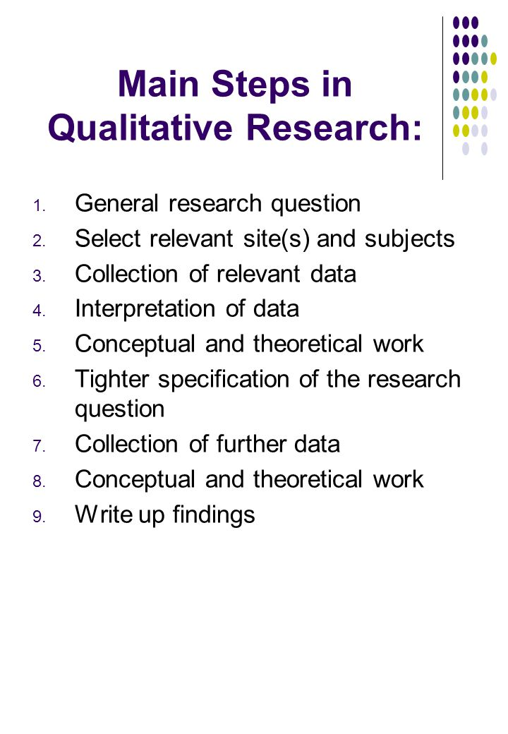 Help for writing qualitative research report