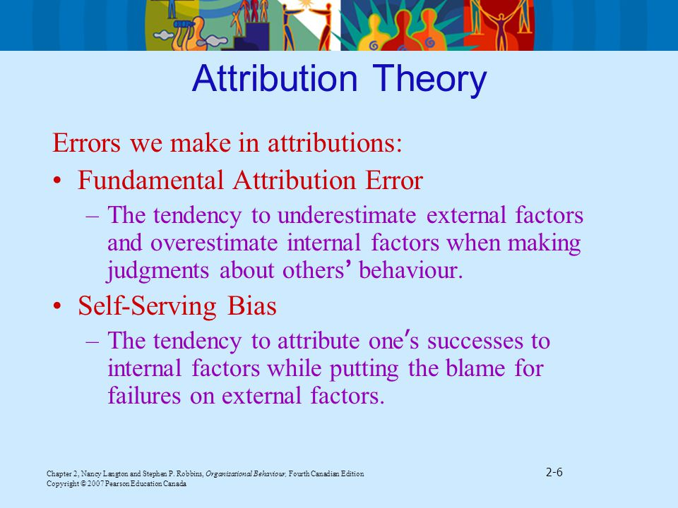 errors of attribution Fundamental attribution error and correspondence bias the fundamental attribution error is often associated with another social psychological phenomenon: the.