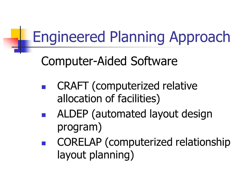 Engineered Planning Approach