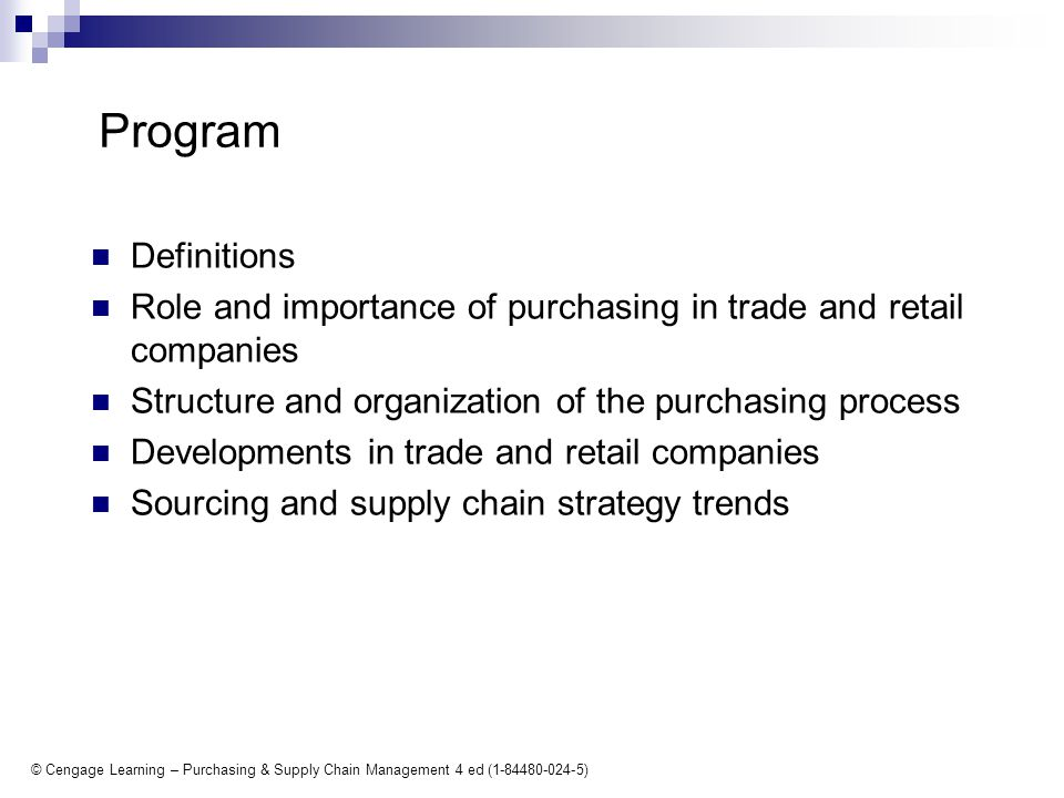 Role of Procurement within an Organization: Procurement : A Tutorial
