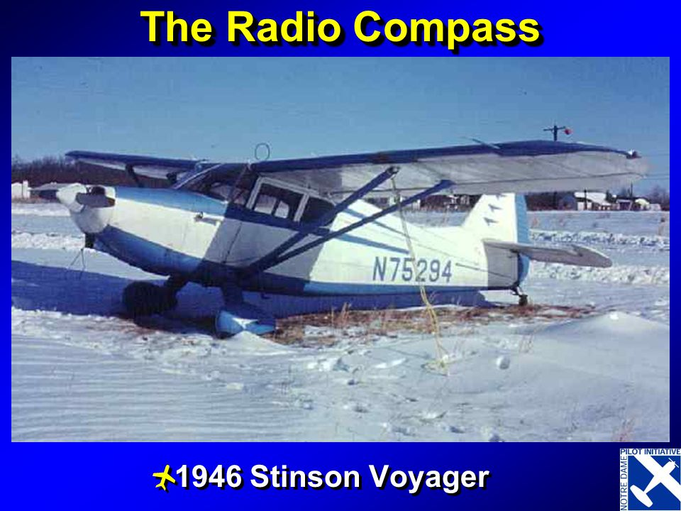 The Radio Compass 1946 Stinson Voyager A Great 1 person airplane
