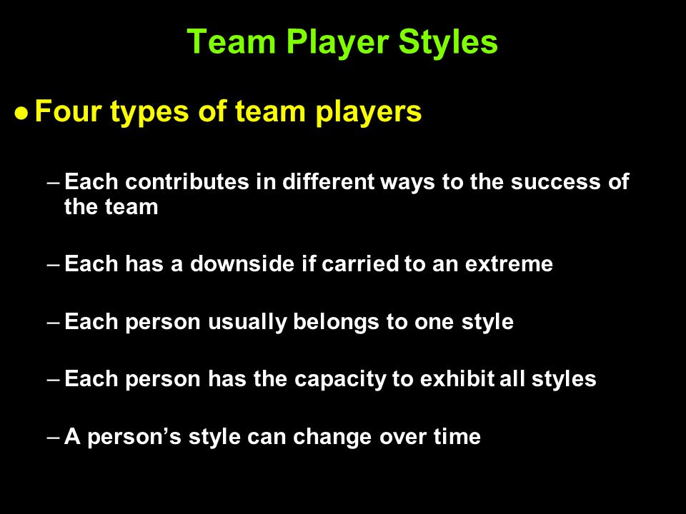 different types of work teams 2015-4-3  differing work styles can help team performance carson tate  now recognize that the best teams leverage diversity  find four basic types of.