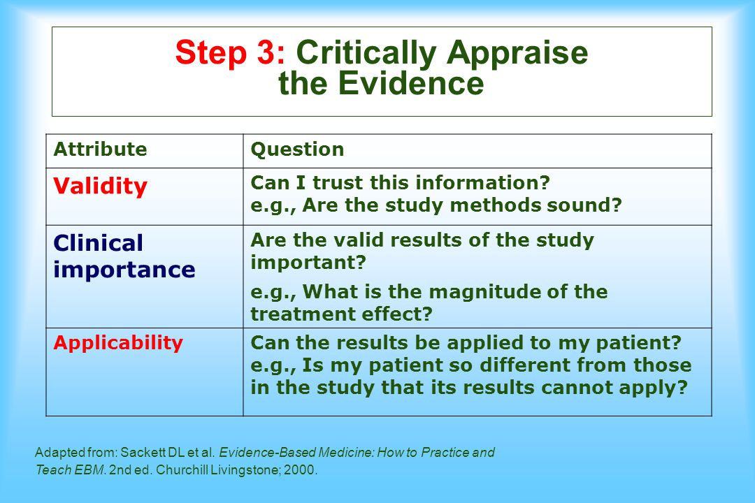 How to critically appraise a clinical practice guideline