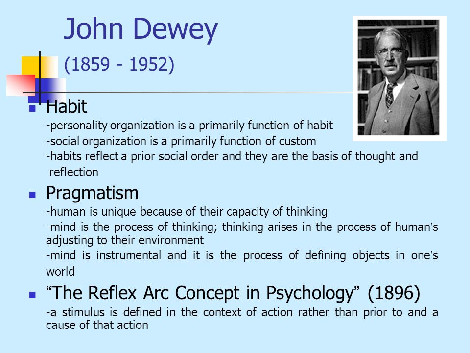 john dewey habits and will Dive deep into john dewey's human nature and conduct with extended analysis,  human nature and conduct analysis john dewey  dewey has already discussed habits.