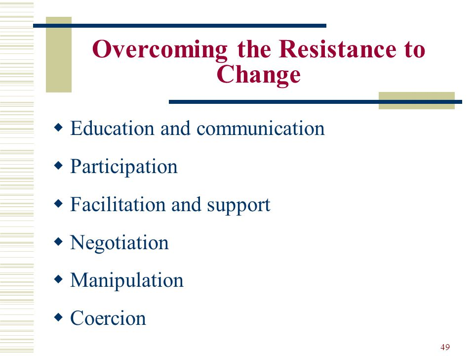 overcoming resistance to change pdf