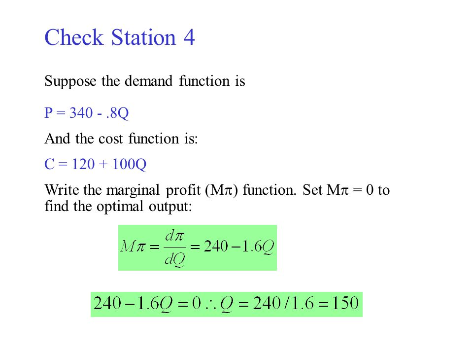 how to get marginal cost from cost function