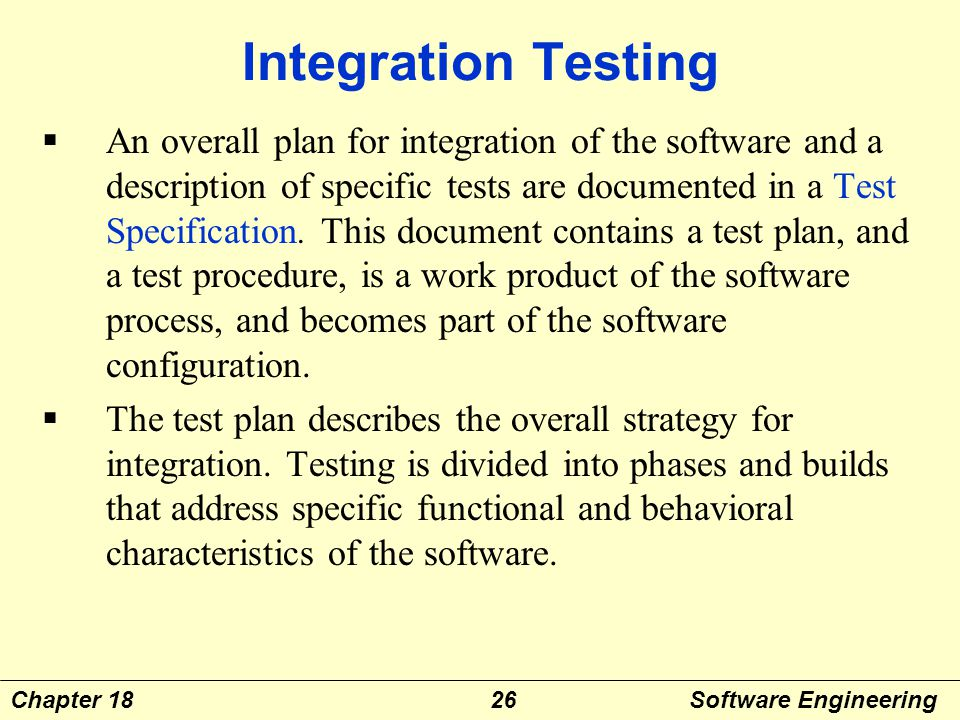 Chapter eighteen software testing strategies ppt video for Integration test case template