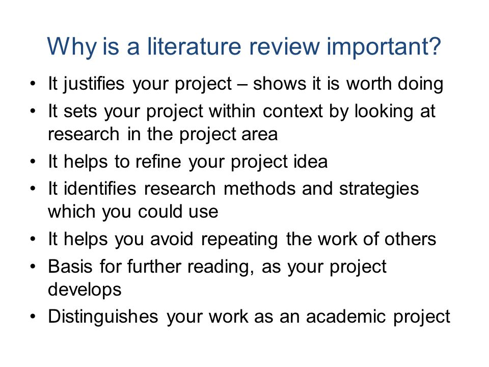 importance of literature review in educational research Researchers usually summarize relevant literature in the introduction to research reports the lit review provides readers with a background for understanding current.