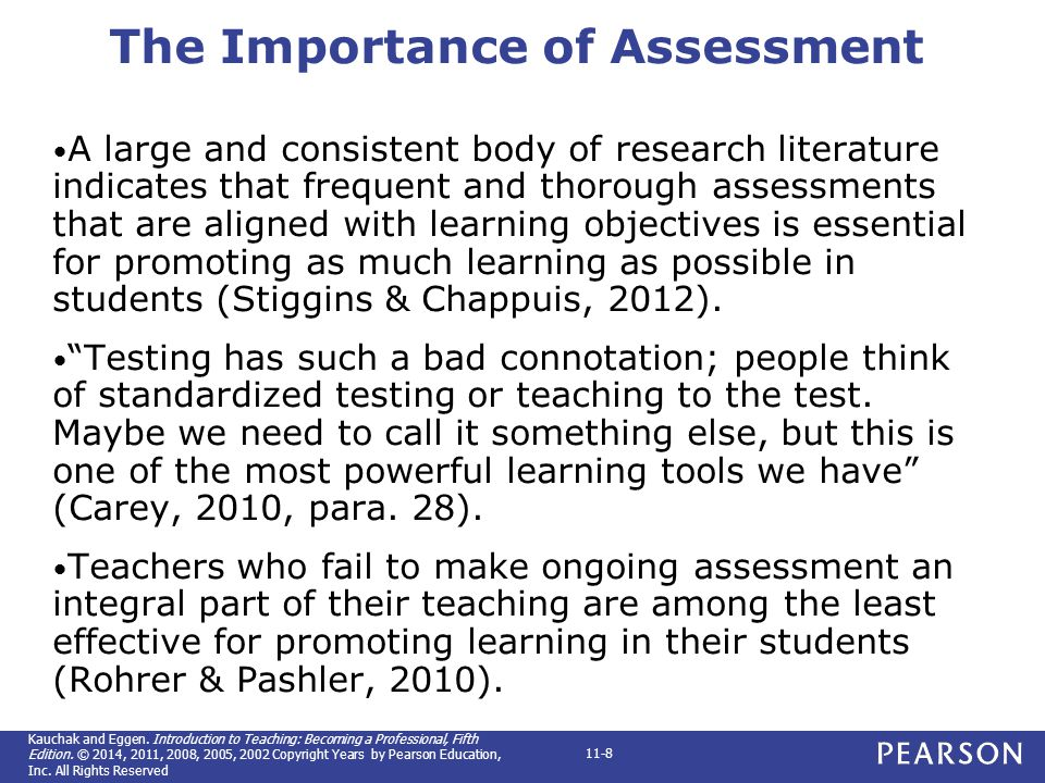 The importance of assessment and how to make it effective