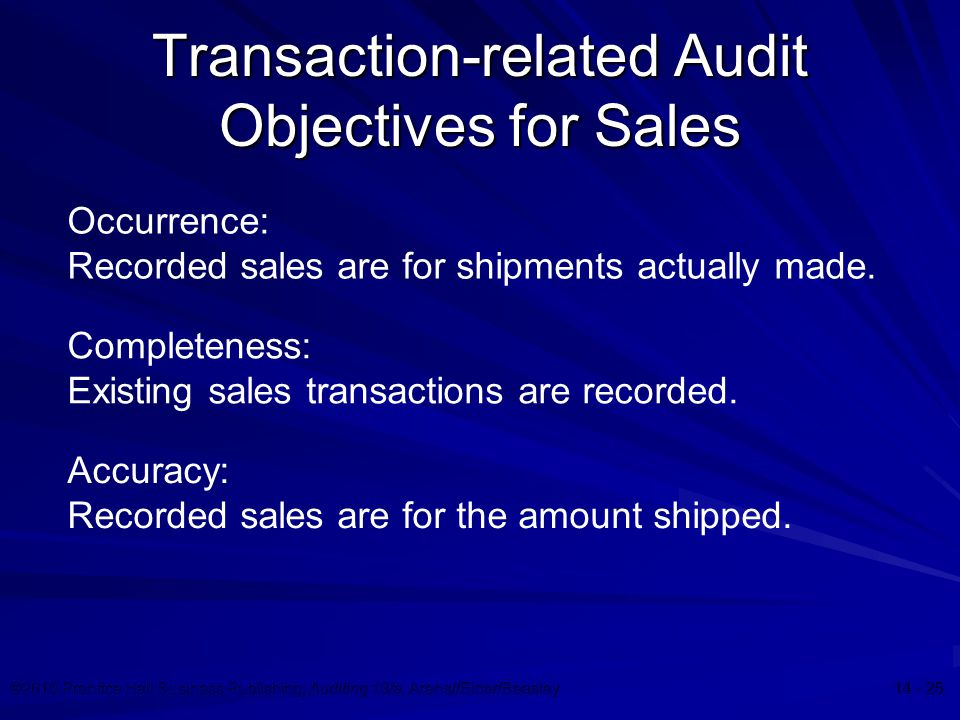 transaction related audit objective Identify key transaction-related audit objectives determine key existing controls design tests of controls to verify effectiveness evaluate any control deficiencies.
