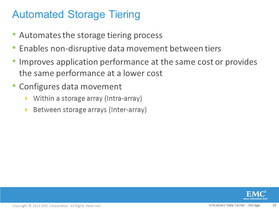 Automated Storage Tiering