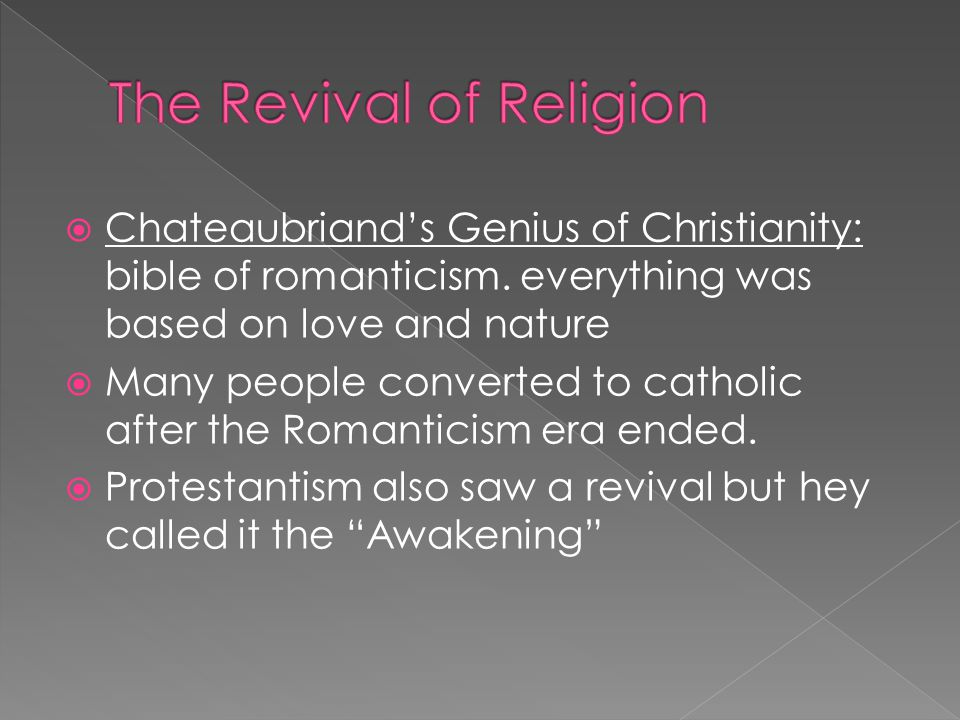the faith of romanticism Introduction to romanticism although interest in religion and in the powers of faith were prominent during the romantic period.