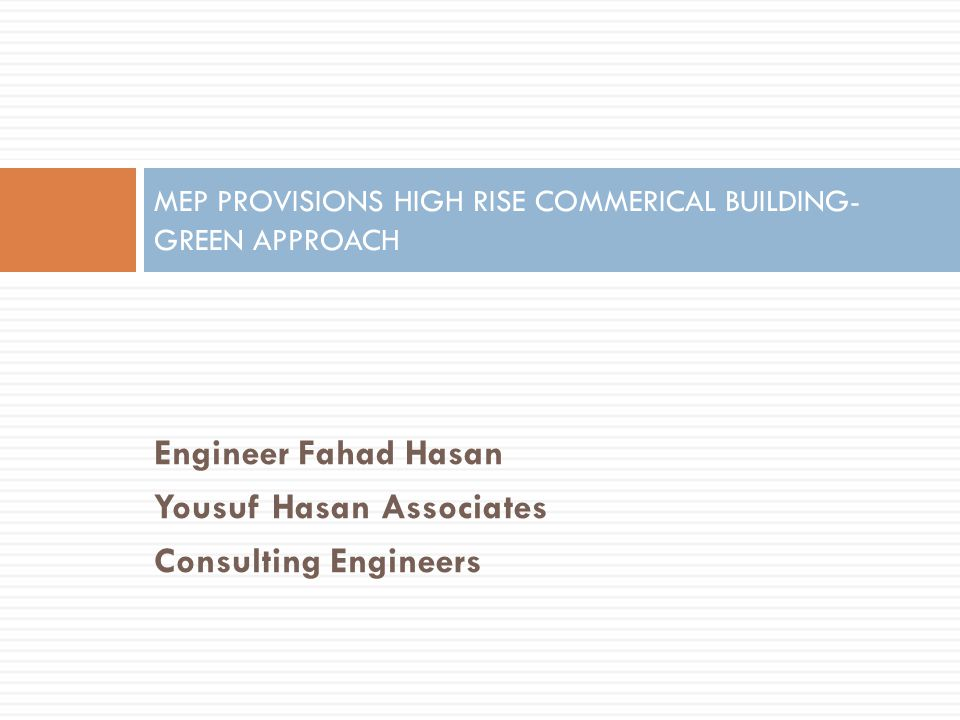 Mep provisions high rise commerical building green approach ppt mep provisions high rise commerical building green approach publicscrutiny Images