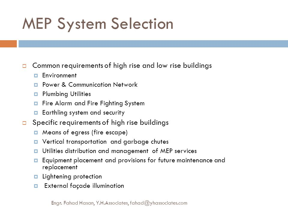Mep provisions high rise commerical building green approach ppt mep system selection common requirements of high rise and low rise buildings environment power publicscrutiny Images