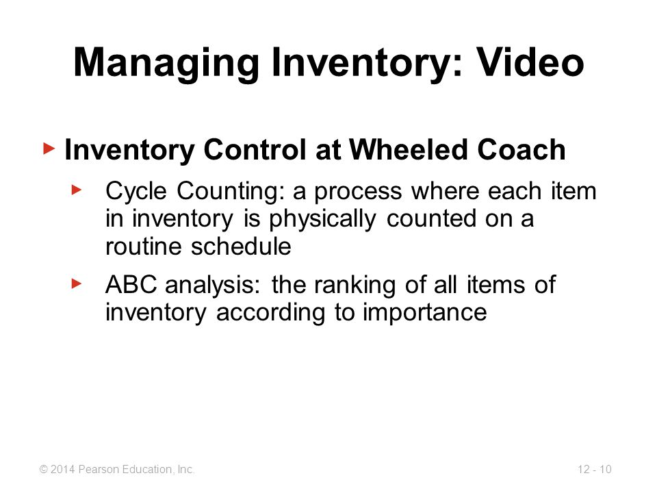 inventory control at wheeled coach ambulance Wheeled coach began to experience excess inventory problems due the highest stock accurateness requisite for material requirement planning structuresample case study paper on mrp at wheeled coach.