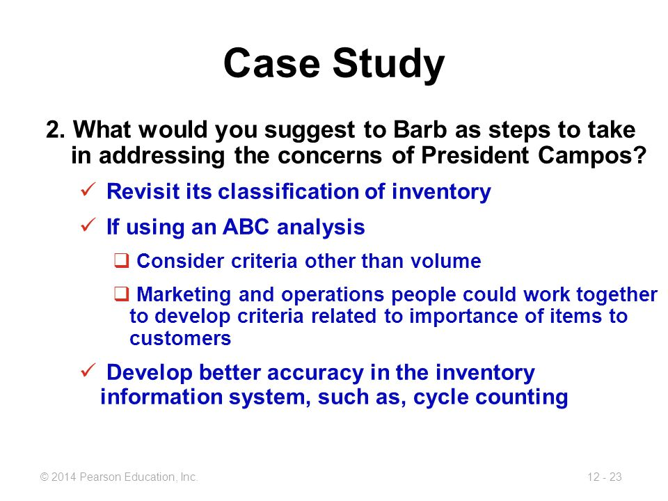 abc inc case study Eurasian journal of business and economics 2010, 3 (6), 85-111 changes in company's management accounting systems: case study on activity-based costing implementation and operation.