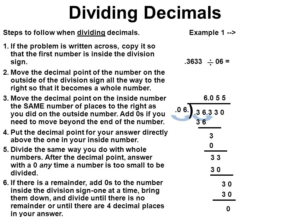 How To Divide With A Decimal - popflyboys