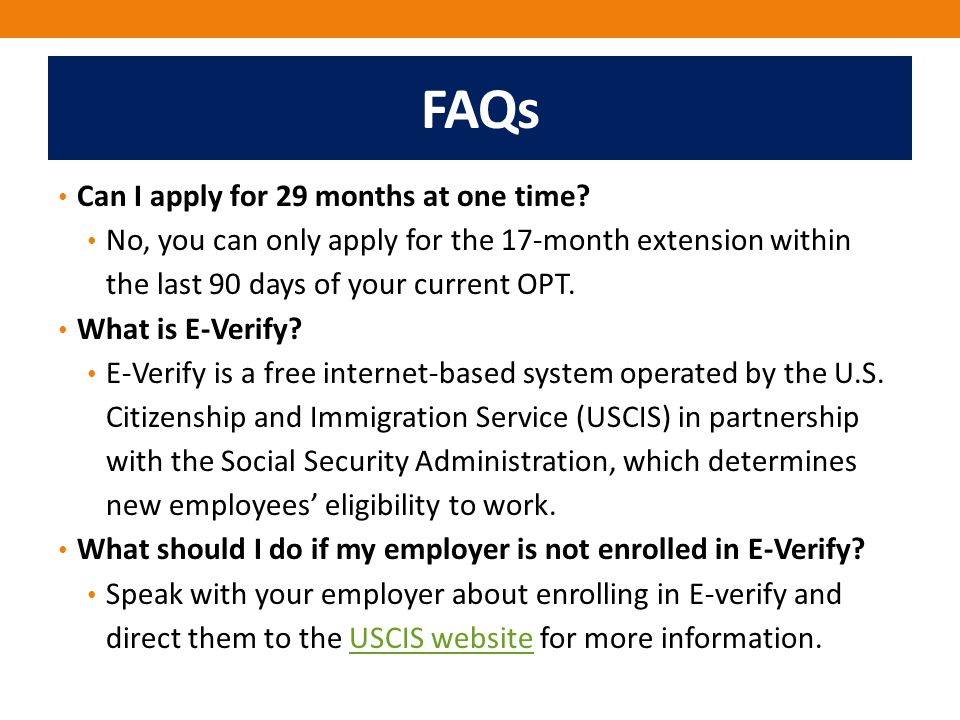 FAQs Can I apply for 29 months at one time