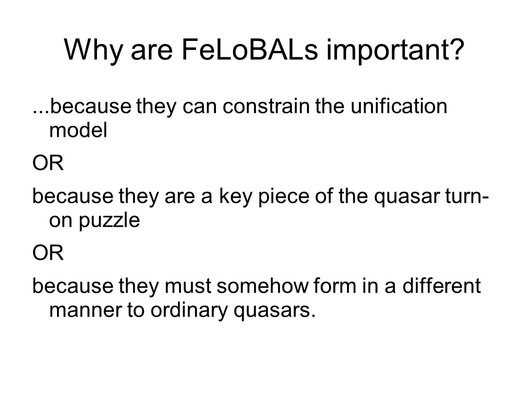 Why are FeLoBALs important
