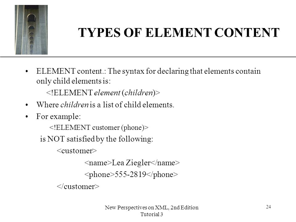 TYPES OF ELEMENT CONTENT