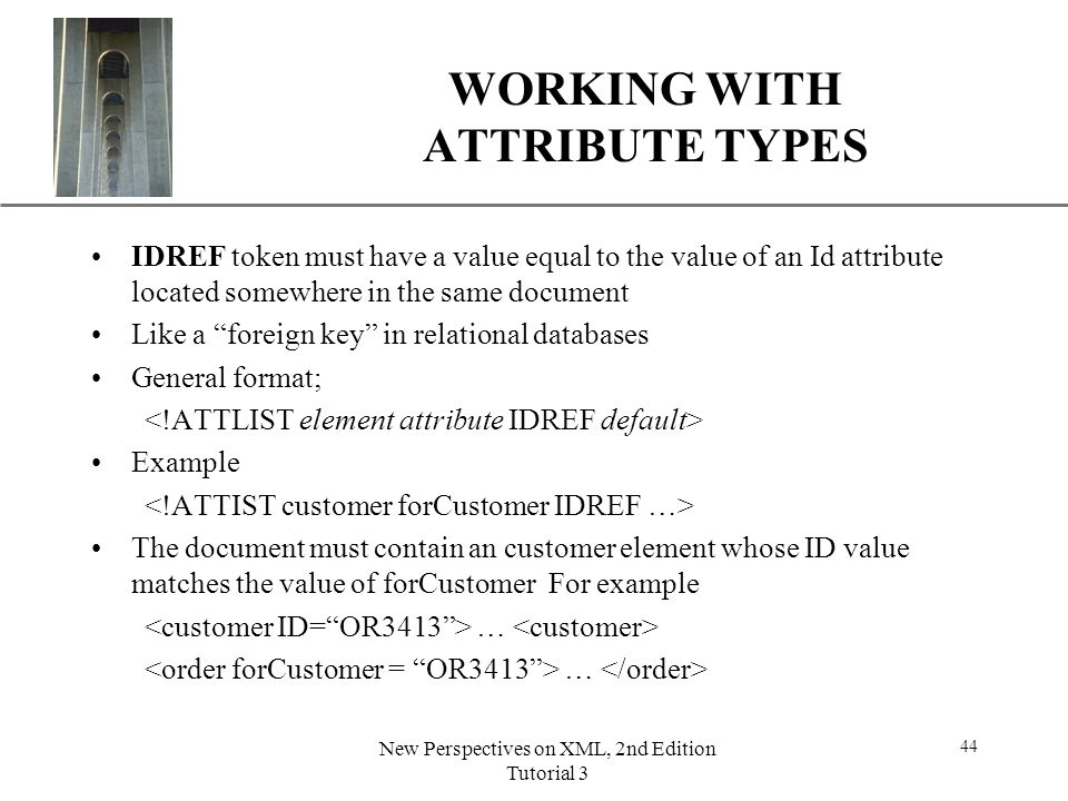 WORKING WITH ATTRIBUTE TYPES