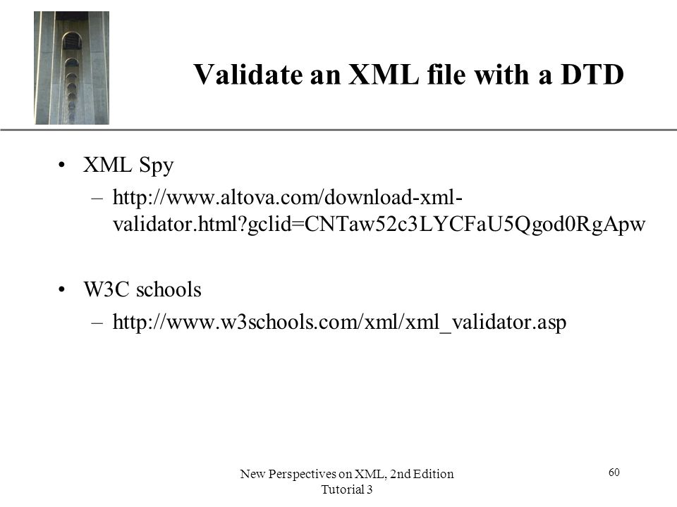 Validate an XML file with a DTD