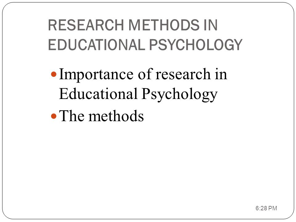 educational psychology quantitative research methods The department of educational psychology offers both a doctoral (phd) and   who understand and apply advanced quantitative research methods to address.