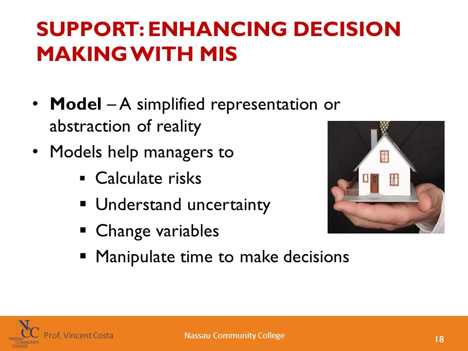 SUPPORT: ENHANCING DECISION MAKING WITH MIS