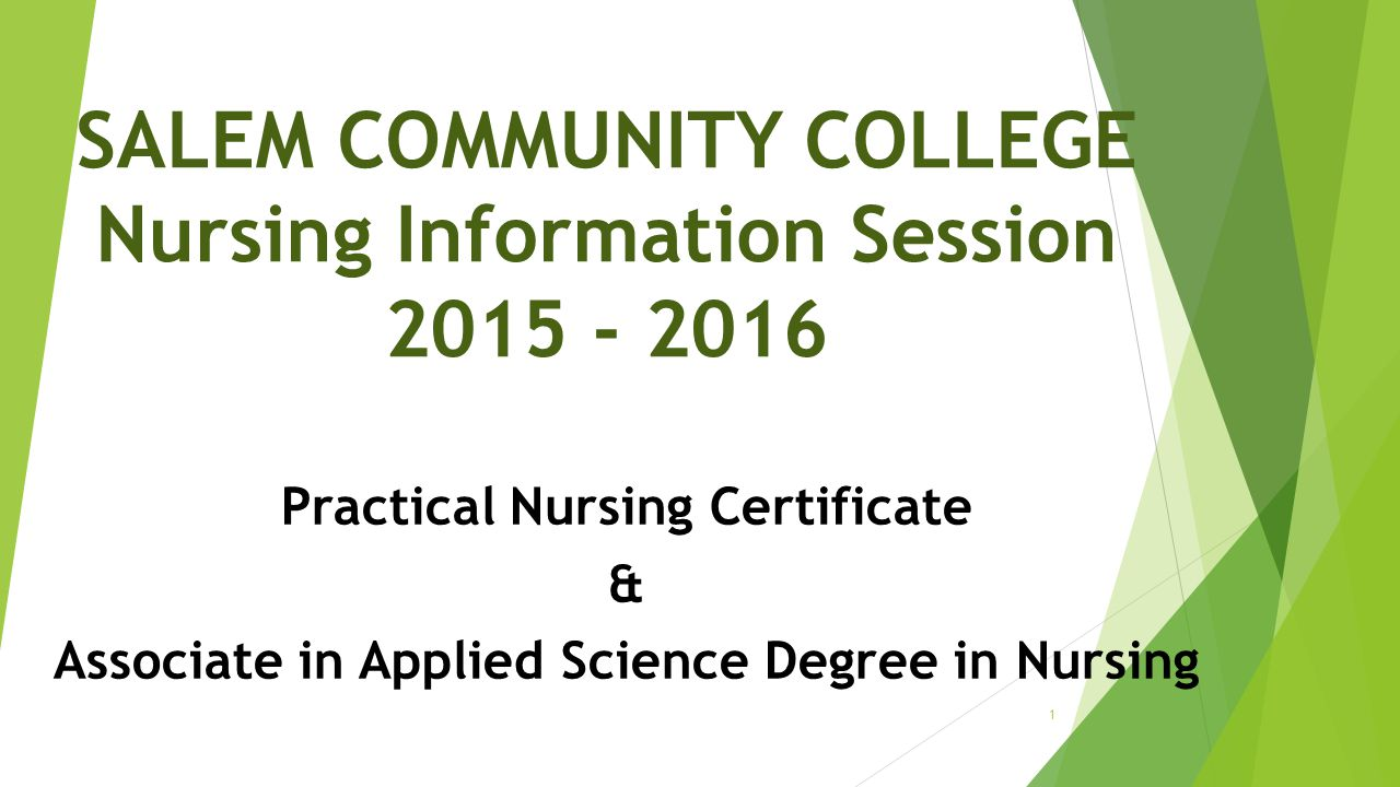 Salem Community College Nursing Information Session Ppt