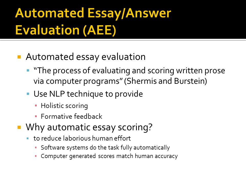 Buy automated essay scoring machine