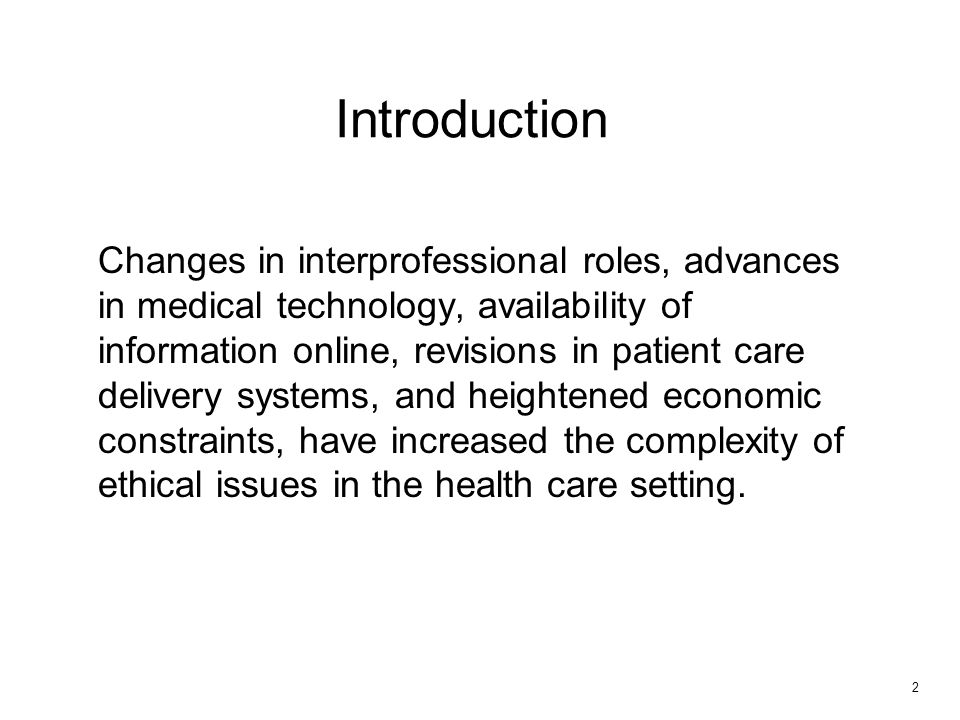 Introduction to the Healthcare System