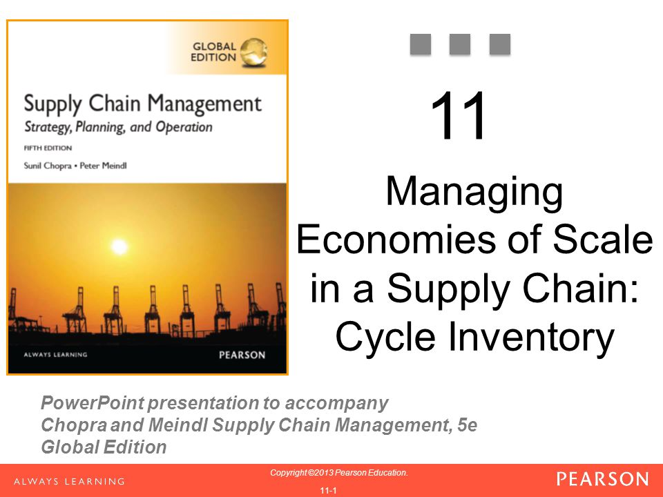 Managing Economies of Scale in a Supply Chain: Cycle Inventory