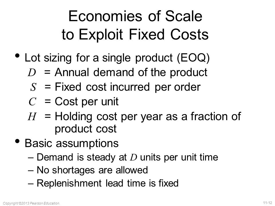 Economies of Scale to Exploit Fixed Costs
