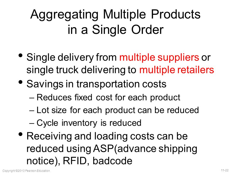 Aggregating Multiple Products in a Single Order
