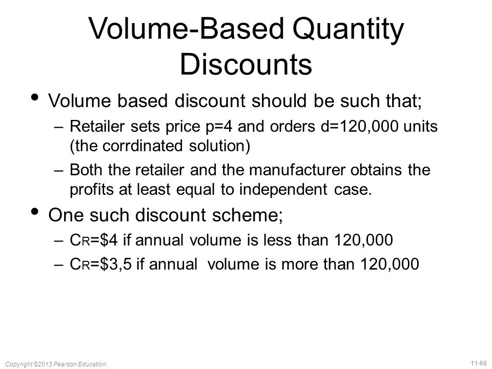 Volume-Based Quantity Discounts