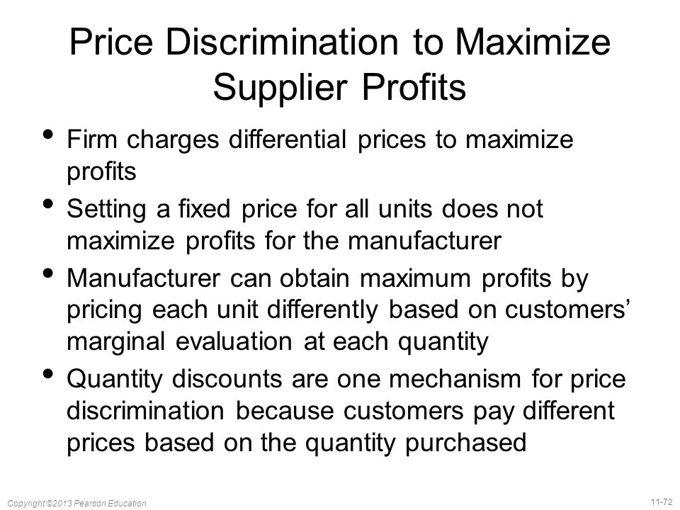 Price Discrimination to Maximize Supplier Profits