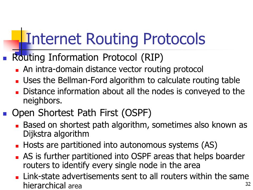 Internet Routing Protocols