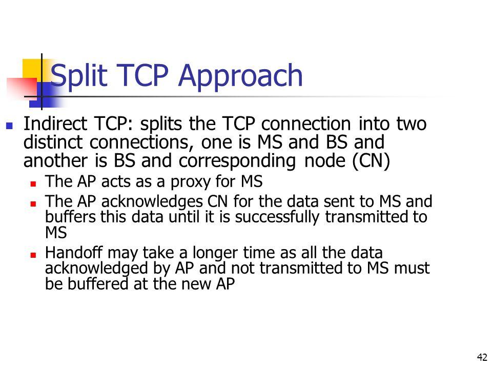 Split TCP Approach