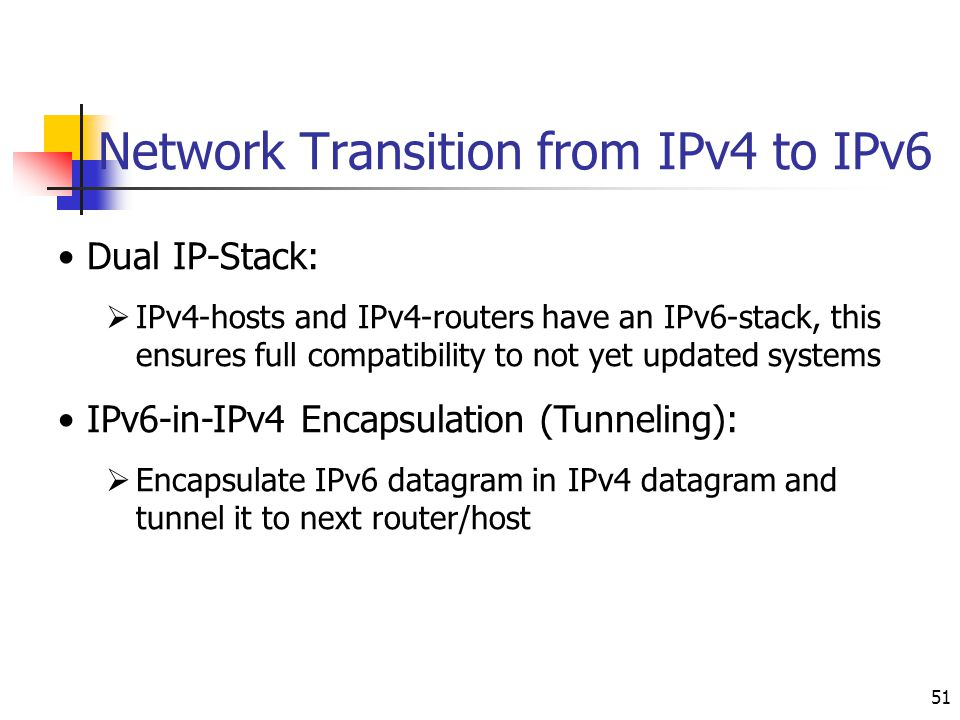 Network Transition from IPv4 to IPv6