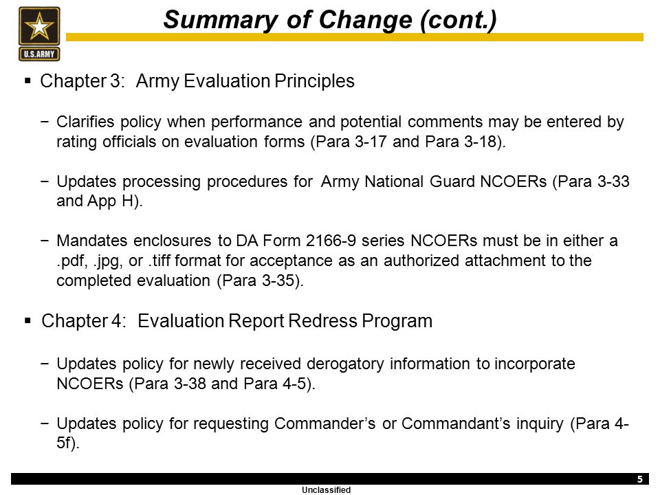 Policy Updates: Army Regulation ppt download